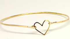 Single Heart Bangle by Kris Nations